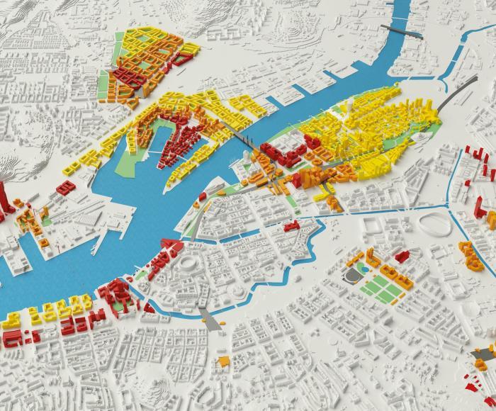 3D modell över byggplaner i Göteborg